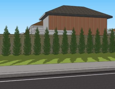 View Privacy Fence with Plantings